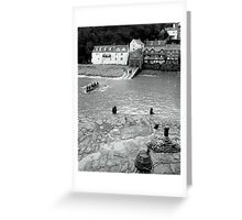 BW Clovelly Harbour Greeting Card