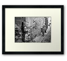 Old Lady in Malcesine Framed Print