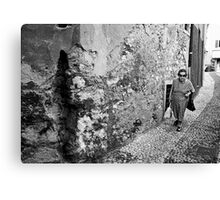 Old Lady in Malcesine Canvas Print
