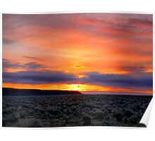 Sunrise At Frenchglen Poster
