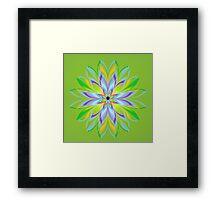 Green Fractal Flower Framed Print
