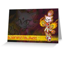 Blaze the Cat: Burning Blaze Greeting Card