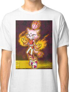 Blaze the Cat: Burning Blaze Classic T-Shirt
