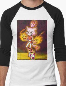 Blaze the Cat: Burning Blaze Men's Baseball ¾ T-Shirt