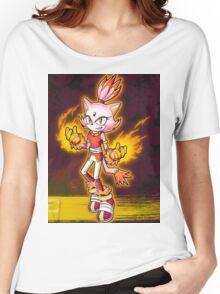 Blaze the Cat: Burning Blaze Women's Relaxed Fit T-Shirt