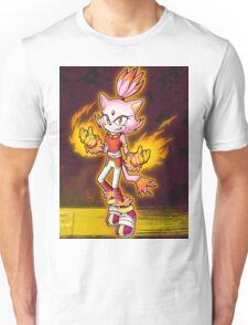 Blaze the Cat: Burning Blaze Unisex T-Shirt