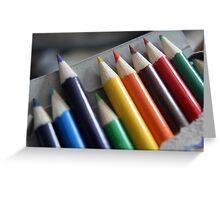 Pencil rainbow Greeting Card