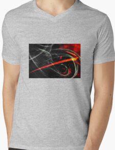 Red arrow Mens V-Neck T-Shirt