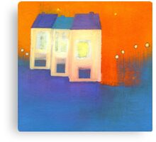three houses Canvas Print