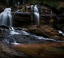 Winter Waterfall by DHParsons