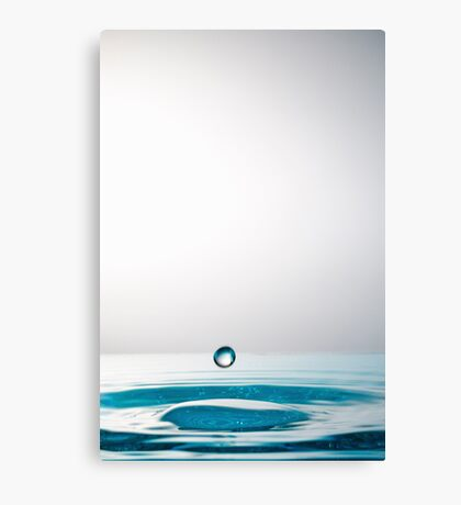 Falling Droplet into water surface Canvas Print