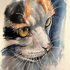 Crocket, featured in Art Universe,  Cat's Pajamas, Cats and Dogs Group by Françoise  Dugourd-Caput