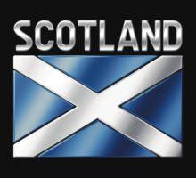 Scotland - Scottish Flag & Text - Metallic by graphix