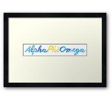 Alpha Phi Omega Framed Print