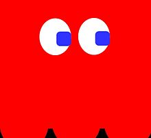 Pac-Man Ghost iphone red by Margaret Bryant