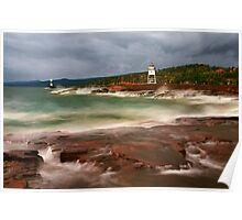Stormy Day at Grand Marais Poster