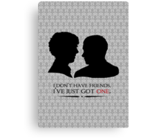 I don't have friends, I've just got one Canvas Print