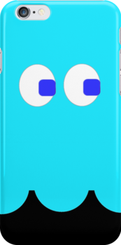 Pac-Man Ghost iphone blue by Margaret Bryant