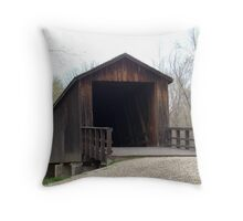 Locust Creek Bridge, Missouri Throw Pillow