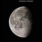 Gibbous Moon - iPhone Case by CRHammond