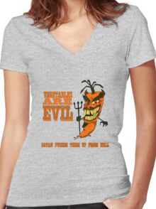 Vegetables are PURE EVIL! Women's Fitted V-Neck T-Shirt