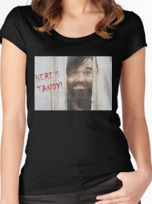 HERE'S TANDY! Last Man On Earth Phil Miller The Shining Spoof Women's Fitted Scoop T-Shirt
