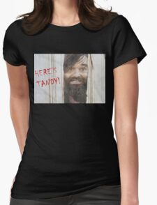 HERE'S TANDY! Last Man On Earth Phil Miller The Shining Spoof Womens Fitted T-Shirt