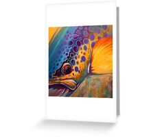 """""""River Orchid"""" Large Contemporary Trout Painting  Greeting Card"""