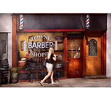 Barber - Barbershop - Time for a haircut Photographic Print