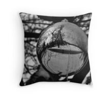Strolling In Snow Globes Throw Pillow