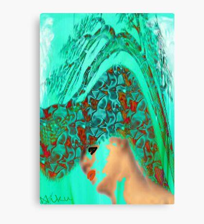 face-Bird woman Canvas Print