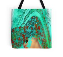 face-Bird woman Tote Bag