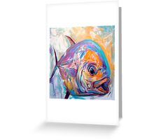 Contemporary Expressionist Fine Art Permit Fish Painting Greeting Card