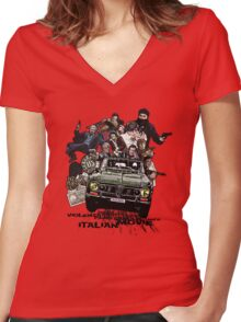 """""""Poliziottesco"""" Italian Movies Women's Fitted V-Neck T-Shirt"""