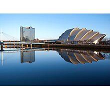Reflected Clyde Auditorium/Crowne Plaza/Bells Bridge Photographic Print
