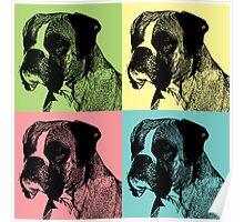 Boxer Dog Stamper Pop Art Poster