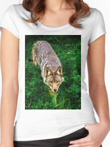 on the prowl  Women's Fitted Scoop T-Shirt