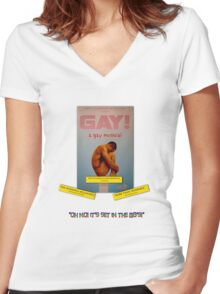 GAY! A GAY MUSICAL Women's Fitted V-Neck T-Shirt