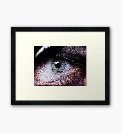 wild animals-eye Framed Print