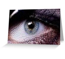 wild animals-eye Greeting Card