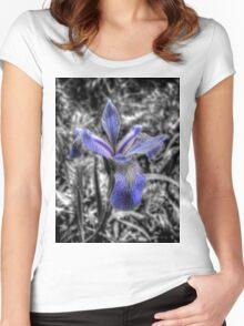 Iris flower Women's Fitted Scoop T-Shirt