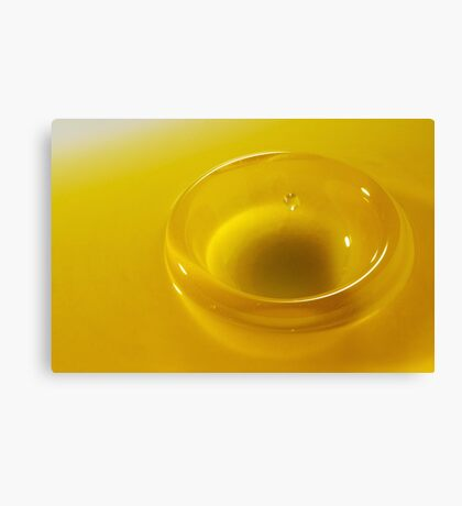 Faling Droplet into oil surface Canvas Print