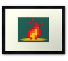 Flame pixel Framed Print