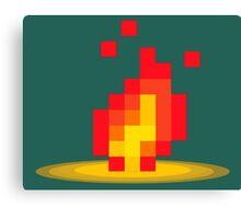 Flame pixel Canvas Print