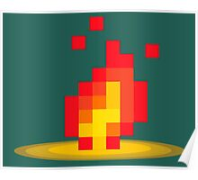 Flame pixel Poster