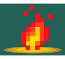 Flame pixel Photographic Print