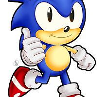 Classic Sonic the Hedgehog by Havocgirl