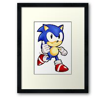 Classic Sonic the Hedgehog Framed Print
