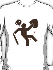 Arrow to the Knee - Sticker T-Shirt