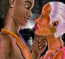 Black Panther and Storm - In Living Colour by NuttyRachy